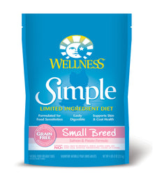 Wellness Simple Small Breed Salmon & Potato Dry Dog Food