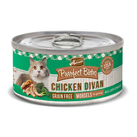 Merrick Purrfect Bistro Grain Free Chicken Divan Canned Cat Food - Push Pets Singapore