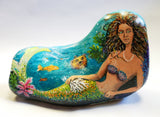 Magical Mermaid Painted Rock