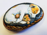 Sleeping Puppy Painted Rock