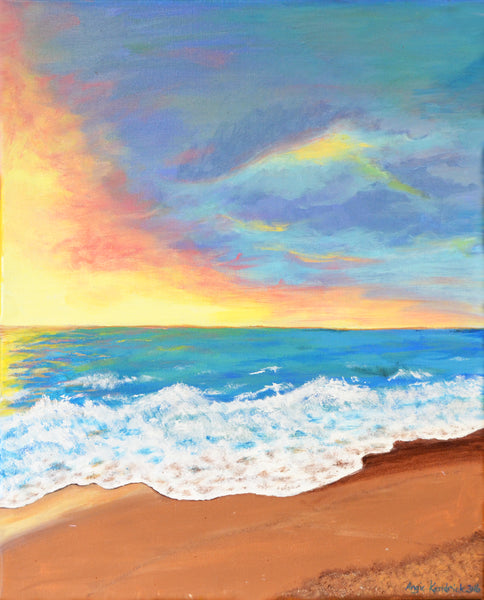 Seaside Sunset Original Painting