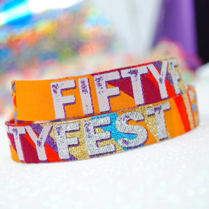Fifty Fest 50th Birthday Party Wristband Favours