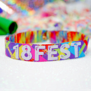 18FEST 18th Birthday Party Festival Wristbands