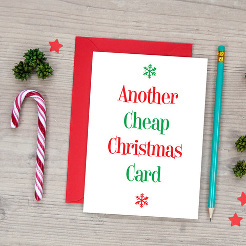 Another Cheap Christmas Card - Funny Christmas Card