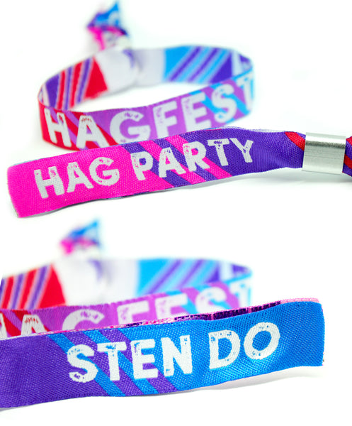 HAGFEST Hag Party / Sten Do (Joint Hen & Stag Do) Wristbands