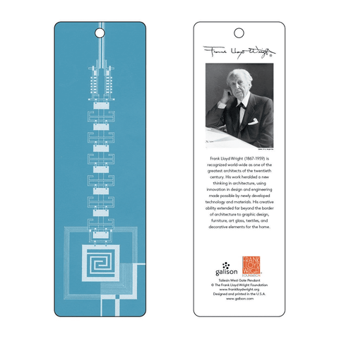 Frank Lloyd Wright Saguaro Forms & Cactus Flowers Luggage Tag