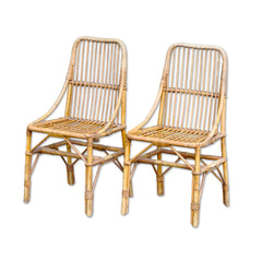 Vintage Rattan Dining Chair