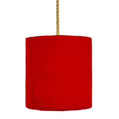 Red Iron And Linen Light