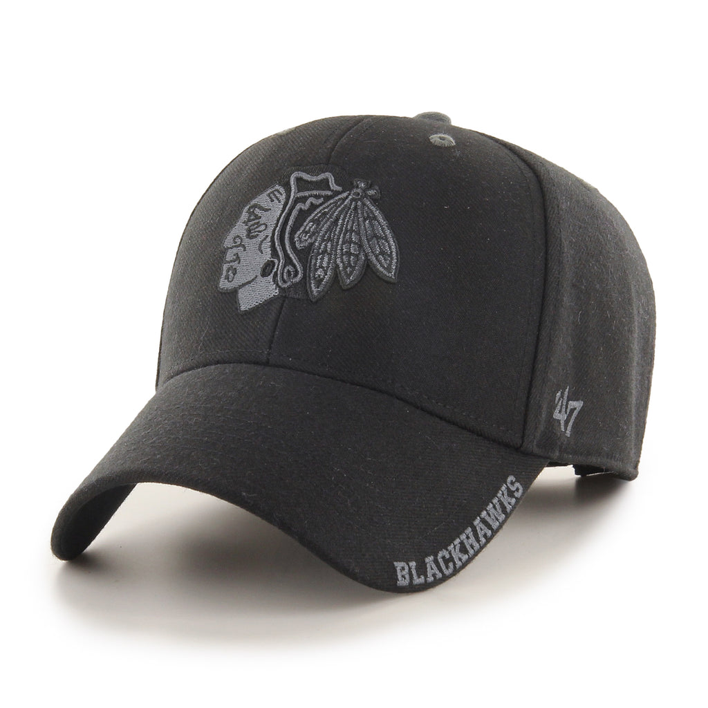 Chicago Blackhawks 47 Brand MVP Black Defrost NHL Team Cap - pumpheadgear, baseball caps