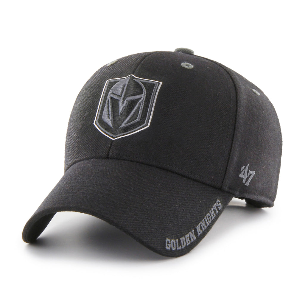 Vegas Golden Knights 47 Brand MVP Black Defrost NHL Team Cap