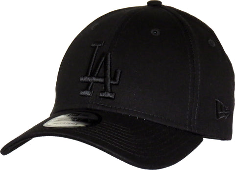 LA Dodgers New Era 940 League Essential Baseball Cap - Black/Black