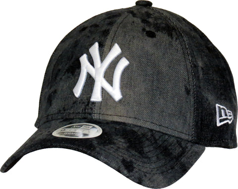 NY Yankees Womens New Era 940 Tie Dye Black Baseball Cap