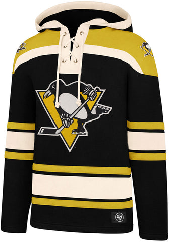 Pittsburgh Penguins 47 Brand NHL Team Lacer Hooded Top
