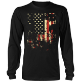 Distressed American Flag District Long Sleeve