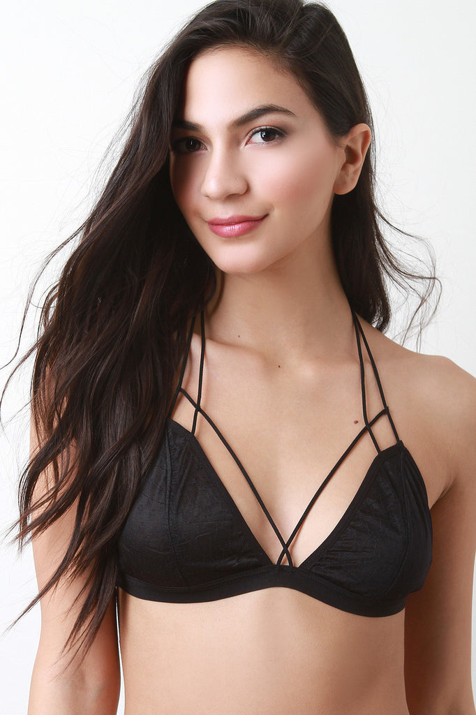 Triangle Mesh Caged Strap Bralette