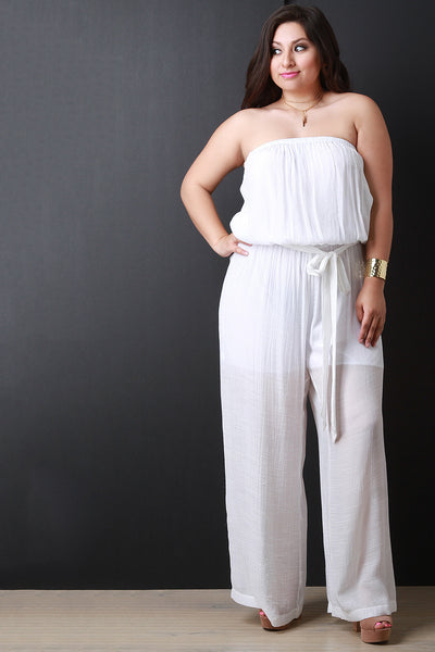 Breezy Strapless Wide Leg Jumpsuit