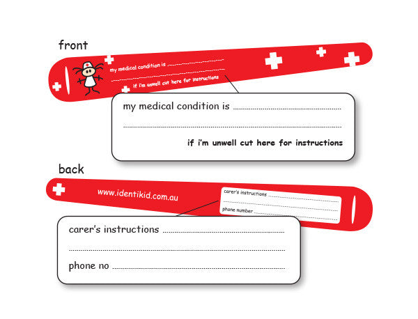 Medical/Allergy Alert Identibands