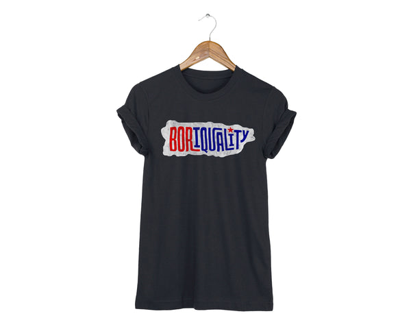 Puerto Rico Boriquality T-shirt in Black by two string jane