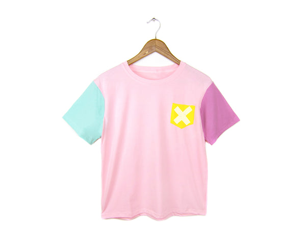Cotton Candy Pocket X Design T-shirt by two string jane