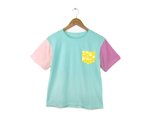 Cotton Candy Pocket Polka Dot T-shirt by two string jane