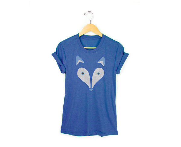 Geo Arctic Fox T-shirt by two string jane