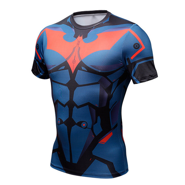 Batman Beyond Superhero Short Sleeve Compression Shirt