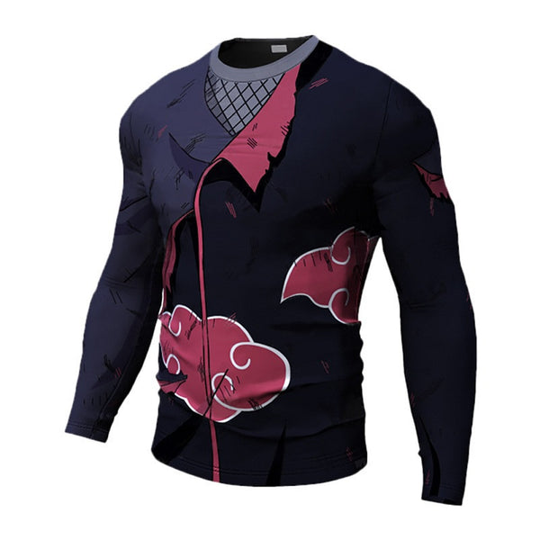 Battle Damaged Akatsuki Compression Shirt - Long Sleeve