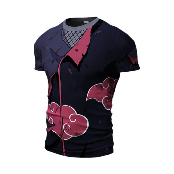 Battle Damaged Akatsuki Compression Shirt - Short Sleeve