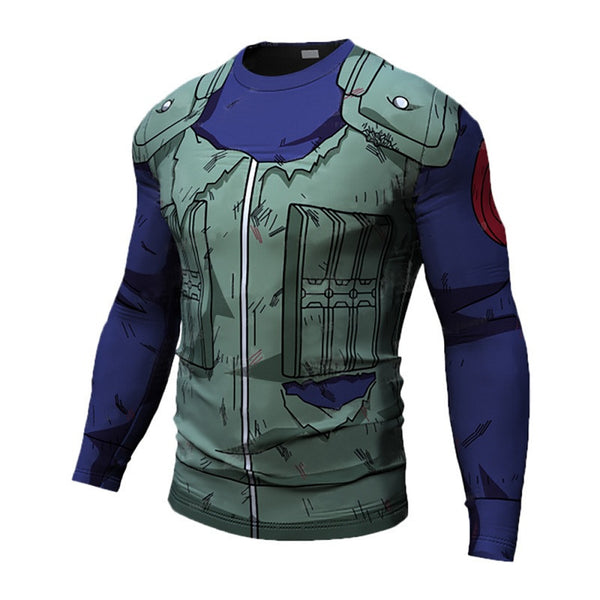 Battle Damaged Kakashi Compression Shirt - Long Sleeve