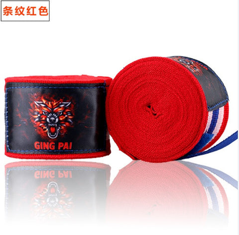 Ging Pai Mexican Style Hand Wraps - Red Stripes