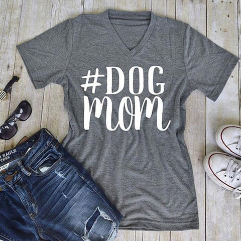 DOG MOM Tee Shirt T-shirt T Shirt #DOGMOM T Shirt