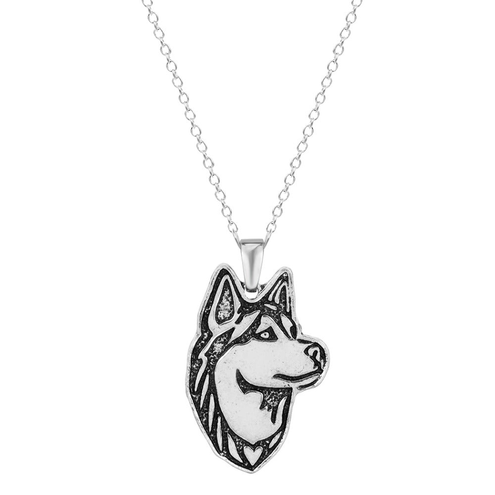 Siberian Husky Dog Puppy Pet Lovers Pendant Necklace - Scruffy Chic