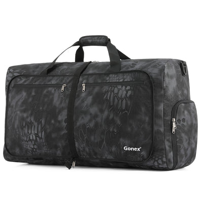 Gonex 60L Cordura Travel Duffle Bag, Foldable Luggage Duffel Water& Tear Resistant