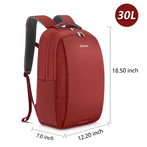 Travel Laptop Backpack, Gonex Business Anti Theft Slim Durable Laptops Backpack Water Resistant College School Computer Bag for Women & Men Fits 14 inch Laptop and Notebook 3 Color Choices
