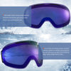 Gonex Magnetic Ski Goggles, Rimless Snowboard Goggles, Anti-Fog 100% UV 400 Protection Snow Goggles Men& Women, Large Size