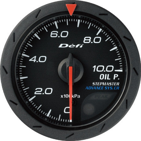 Defi Gauge Meter Advance CR Oil Pressure Meter (0kPa to 1000kPa)  52mm Black  DF08102