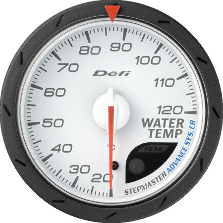 Defi Gauge Meter Advance CR Water Temperature Meter (20 to 120 degrees C)  60mm White  DF09201