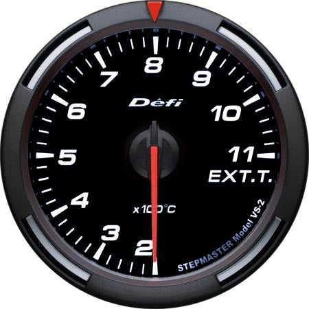 Defi Racer Gauge Exhaust Temperature Meter (200 to 1100 degrees C) 60mm White  DF11806