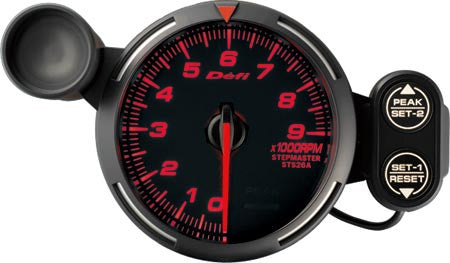 Defi Racer Gauge Tachometer (0 to 9000RPM) 80mm Red  DF12002