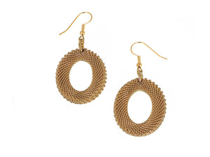Oval Mesh Drop Earrings | Erica Zap Designs