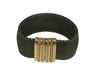 Domed Mesh Bracelet with Textured Magnetic Clasp | Erica Zap Designs