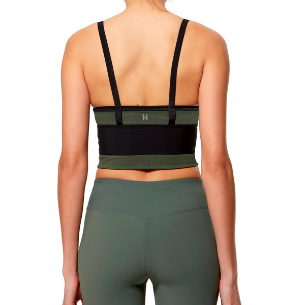 Extreme Bra - Black-Military Green