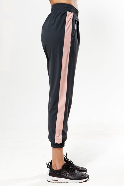 Track Pant with Zip - Rose Grey