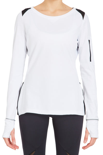 Fashion Long Sleeve Tee - White