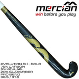 Mercian Evolution GK Gold field hockey stick