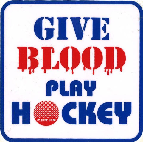 Give Blood Play Field Hockey Decal