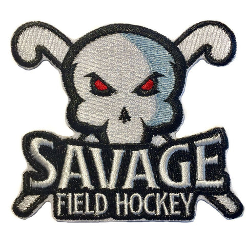 Savage Field Hockey Iron on Embroidered Patch