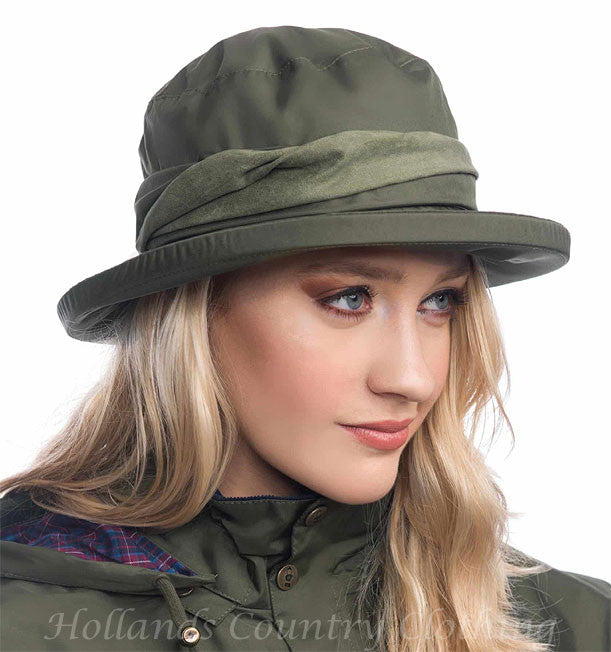 fern green Canterbury Waterproof  Brimmed Hat by Lighthouse