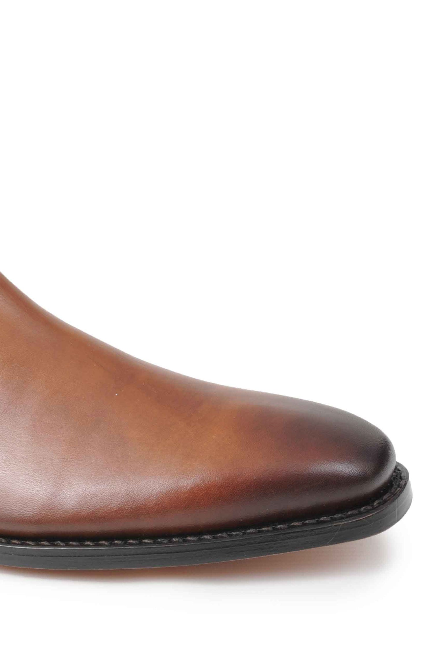 Squared toe Leather chelsea boot