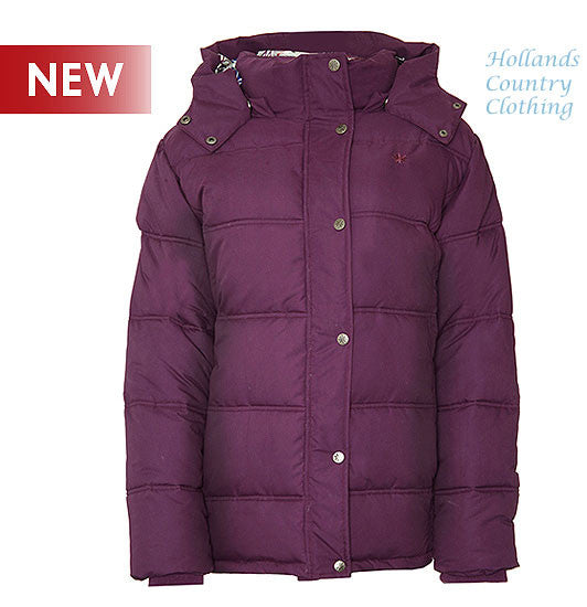 grape colourLadies Champion Country Estate Newquay Padded Quilted Winter Coat Jacket